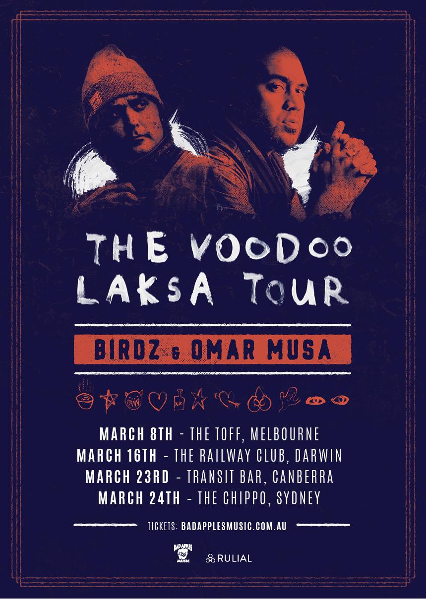 BIRDZ & OMAR MUSA – VOODOO LAKSA TOUR