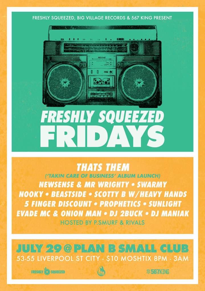 NOOKY @ Freshly Squeezed Fridays, Sydney