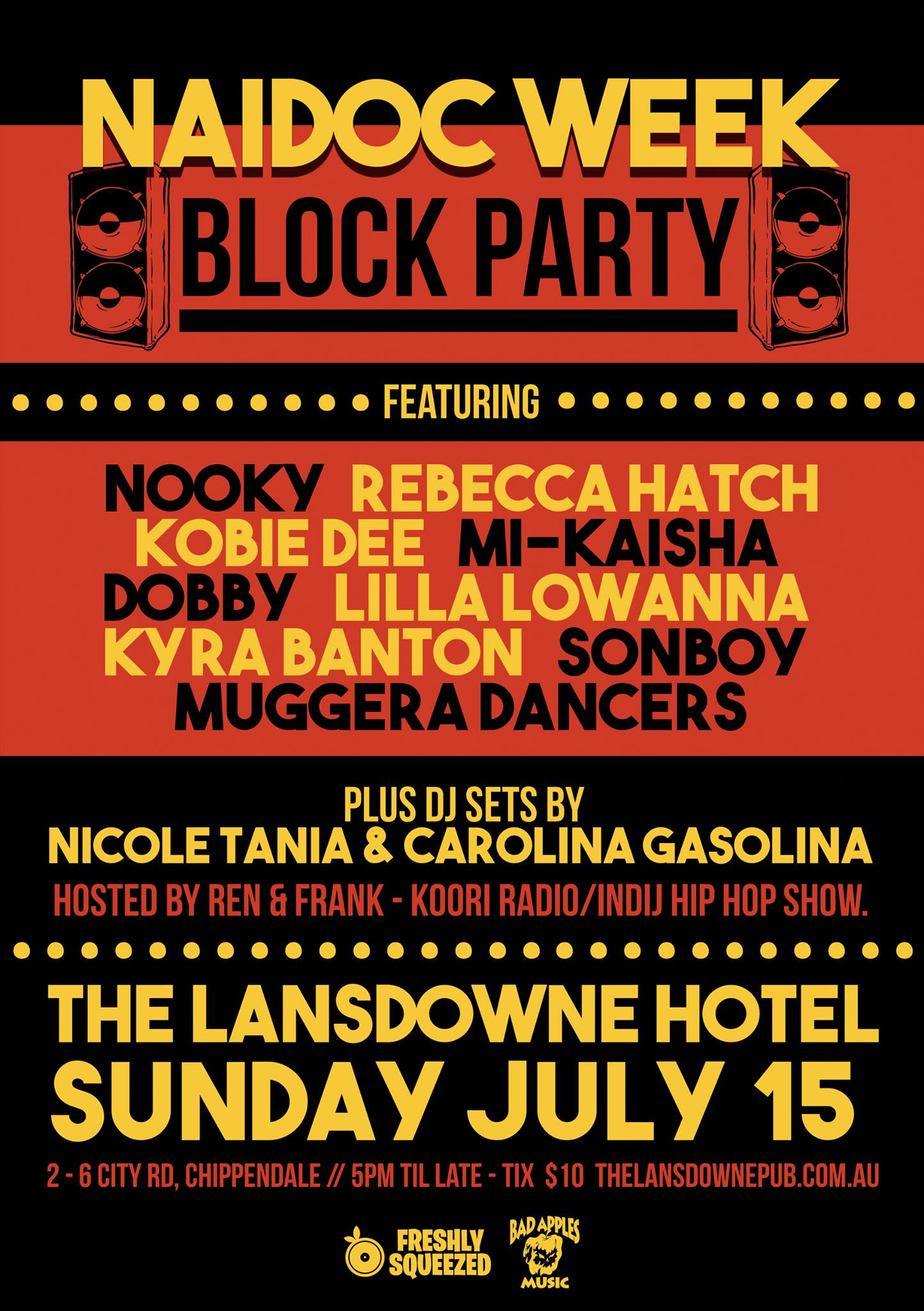 NAIDOC WEEK BLOCK PARTY @ THE LANSDOWNE, SYDNEY