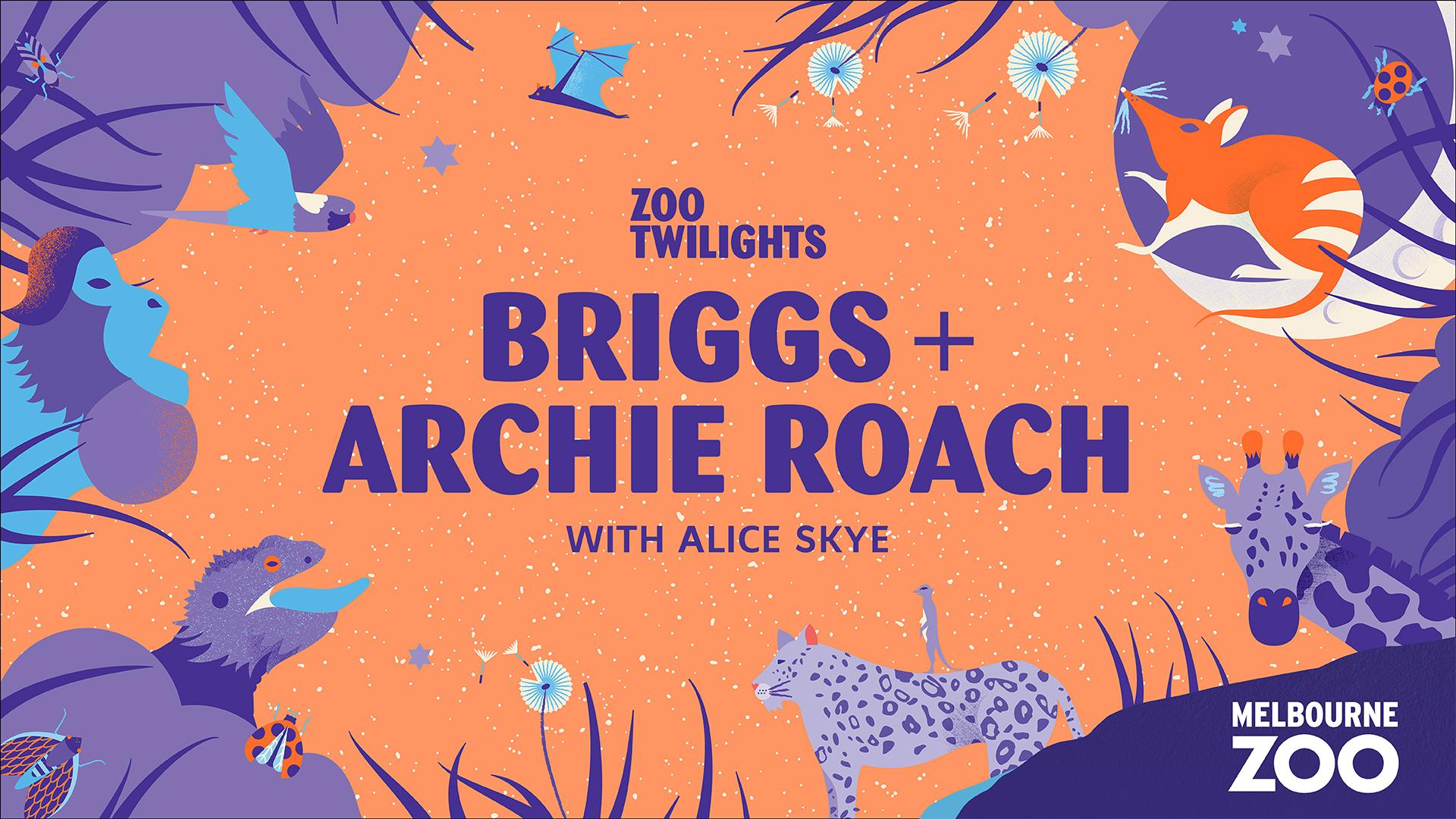 BRIGGS + ARCHIE ROACH + ALICE SKYE at Zoo Twilights