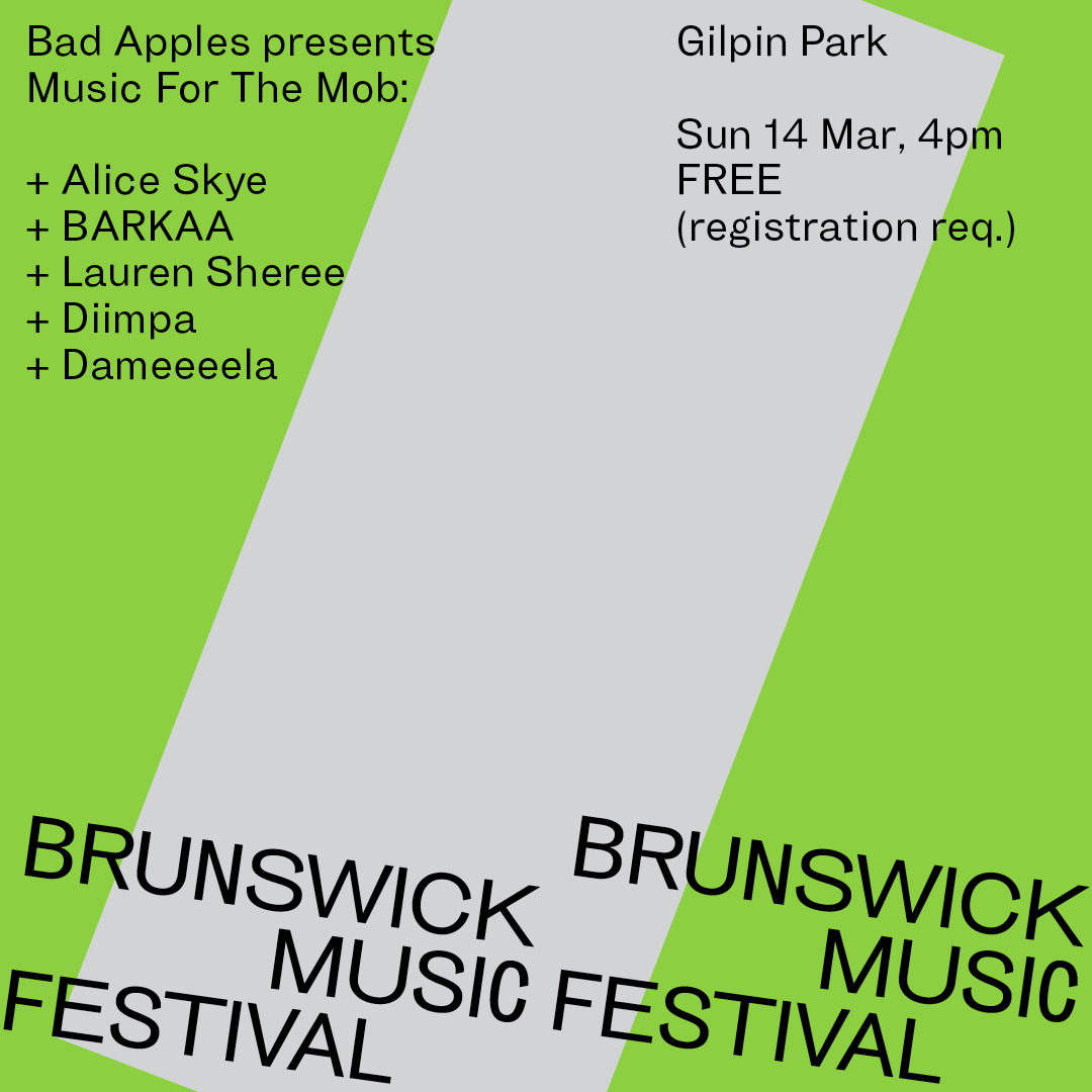 MUSIC FOR THE MOB @ BRUNSWICK MUSIC FESTIVAL, MELBOURNE