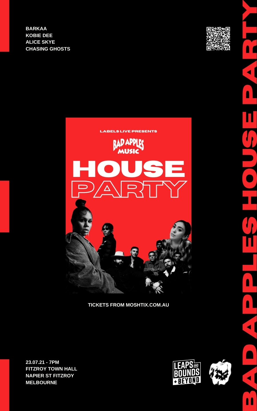 BAD APPLES HOUSE PARTY @ FITZROY TOWN HALL